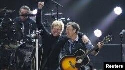 미국의 유명 록 밴드 '본 조비' 공연 장면. (자료사진)