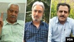 از راست: محمدحسین سپهری، عباس واحدیان شاهرودی و هاشم خواستار