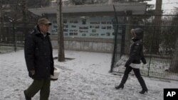 지난 12일 북한의 장거리 로켓 발사 직후 중국 베이징의 북한 대사관.