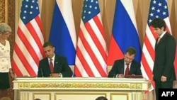 美国总统奥巴马与俄总统(档案照)