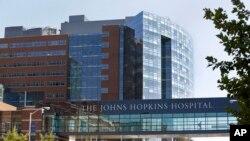Archivo - Parte del complejo del hospital Johns Hopkins en Baltimore, Maryland. 2/10/13.