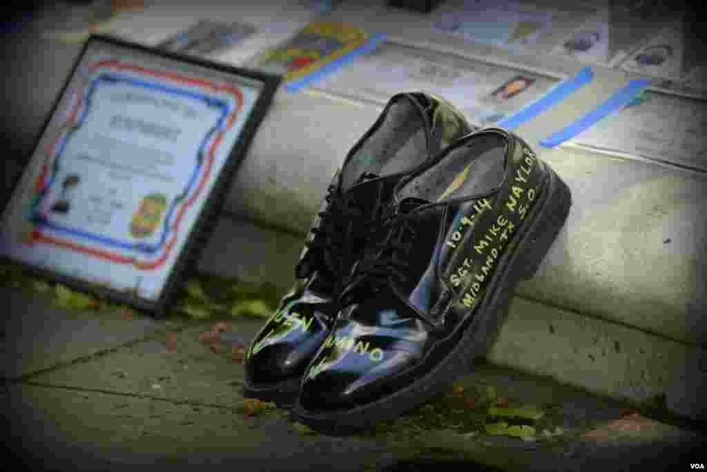 Обувь погибшего