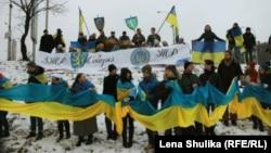 У День Соборності України 22 січня 2014 року кияни з'єднали береги Дніпра живим ланцюгом