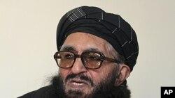 前塔利班部長阿爾薩拉•拉赫馬尼,2012年1月26日,在喀布爾接受采訪
