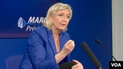 Pemimpin ekstrim kanan Marine Le Pen telah mengumumkan serangkaian prioritas kebijakan luar negeri seandainya dia memenangkan pemilu mendatang. (Foto: dok).