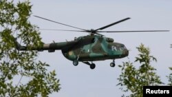 Ukrajinski vojni helikopter u istoccnoj Ukrajini, 1. septembar, 2014.