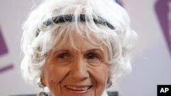 2013年諾貝爾文學獎得主愛麗絲‧門羅(資料圖片)