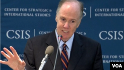 美国国家安全顾问多尼隆11月15号在CSIS发表演讲(美国之音莉雅拍摄)