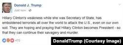 Facebook сторінка Трампа