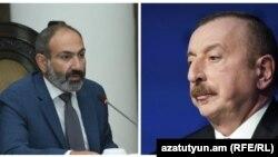 Премьер-министр Армении Никол Пашинян и президент Азербайджана Ильхам Алиев. Архивный коллаж