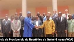 Candidatos presidenciais na Guiné-Bissau e o Presidente de Transição