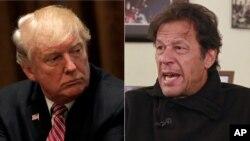 Presiden Amerika Serikat Donald Trump (kiri) dan pemimpin oposisi Pakistan Imran Khan (Foto: dok).