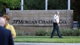 Law enforcement secure grounds of JP Morgan Chase annual stockholders meeting in Tampa, Fla., May 15, 2012.