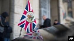 The British Union flag flies from the front of a car as Britanski ambasador u Rusiji, Lori Bristov, prisustvuje sastanku u ruskom ministarstvu spoljnih poslova u Moskvi, Rusija, 17. marta 2018.