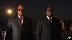 UMongameli Jacob Zuma loMongameli Robert Mugabe