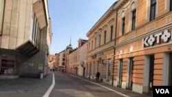 Prazne ulice Banja Luke