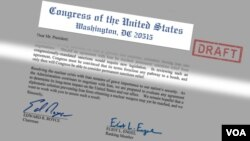 Congressional Letter to President Obama, regarding nuclear negotiations with Iran, March 19, 2015