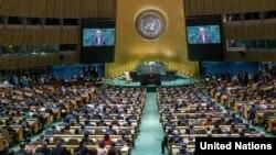 Suasana Sidang Majelis Umum PBB di New York, 26 September 2019. (Foto: dok).