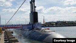 明尼苏达号维吉尼亚级核动力攻击潜艇2013年9月初服役 (美国海军照片)
