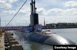 """""""明尼苏达号维吉尼亚级核动力攻击潜艇9月初服役""""(美国海军照片)"""