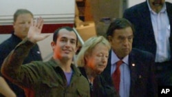 This image taken from a video shows former Marine Sergeant Andrew Tahmooressi en route to his family's Weston, Florida, home after returning to the United States, Nov. 1, 2014.