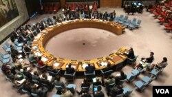 5일 유엔 안전보장이사회에서 북한의 ICBM 발사에 대응한 긴급회의가 열렸다.