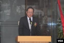台灣外交部常務次長李澄然(美國之音楊明拍攝)