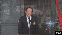 台湾外交部常务次长李澄然(美国之音杨明拍摄)