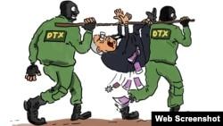 DTX-nin rüşvətxoru saxlaması səhməsi (Karikatura Gündüz Ağayevindir)