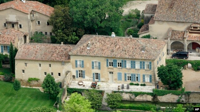 FILE - This May 31, 2008 file photo shows the Miraval property in Correns, near Brignoles, southern France, which is owned by U.S. actors Angelina Jolie and Brad Pitt.