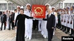 Tổng bí thư-Chủ tịch nước Nguyễn Phú Trọng (phải) và Chủ tịch Quốc hội Nguyễn Thị Kim Ngân tại lễ tang cố Chủ tịch nước Trần Đại Quang.