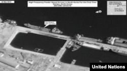 유엔 대북제제위 전문가패널은 지난 9월 보고서에서 베트남 선적 '비엣 틴 1호'가 지난 2월 북한 남포항에 정박한 위성사진을 공개했다.