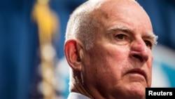 美国加州州长杰瑞·布朗 (资料照片)