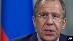 세르게이 라브로프 러시아 외무장관.
