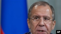 ທ່ານ Sergey Lavrov ລັດຖະມົນຕີການຕ່າງປະເທດຣັດເຊຍ ຮຽກຮ້ອງໃຫ້ ລັດຖະບານຊີເຣຍ ປະຕິບັດຕາມຄໍາໝັ້ນສັນຍາ.