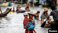 Lụt lội xảy ra hàng năm tại Miến Điện thuộc khu vực Magway, miền trung Miến Điện do sông Ayeyarwady gây ra.