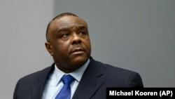 L'ancien vice-président congolais Jean-Pierre Bemba lors d'une audience à la Cour pénale internationale, à La Haye, 21 juin 2016.