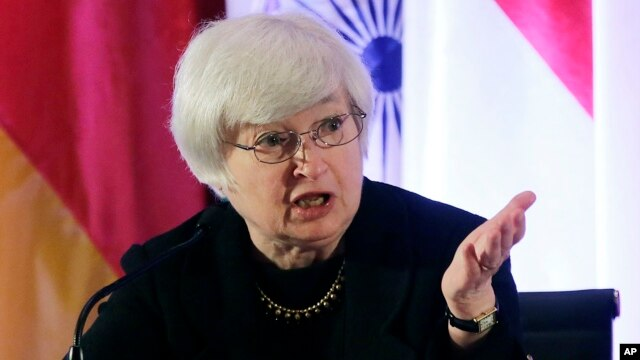 Janet Yellen answers a question from a participant at the International Monetary Conference in Shanghai, China, June 2013 file photo..