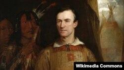 화가 윌리엄 피스크가 그린 조지 캐틀린의 초상화.