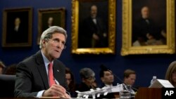 Menlu AS John Kerry di Gedung Capitol, Washington DC (Foto: dok).