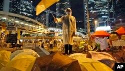 ჰონგ-კონგის მასობრივი აქცია ქოლგებით, 9 ოქტომბერი, 2014 წ.