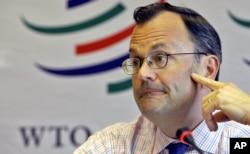 Juru Bicara WTO, Keith Rockwell di Jenewa, 1 Mei 2006. (Foto: dok).