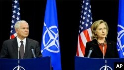 جمعرات کوبرسلز میں امریکی وزیر خارجہ اور وزیر دفاع کی مشترکہ اخباری کانفرنس