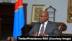 Félix Thsisekedi à la Cité de l'union africaine, à Kinshasa, le 19 février 2019. (Tiwtter/Présidence RDC)
