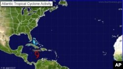 Map of Altantic tropical cyclone activity, 04 Nov 2010, 7:51 AM EDT
