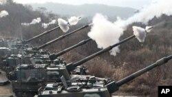 南韓軍隊在去年進行的軍事演習(資料圖片)