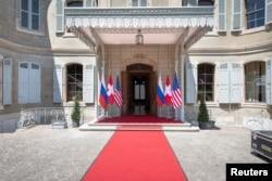 Mjesto susreta Bidena i Putina - ženevska vila La Grange uoči susreta dvojice državnika.