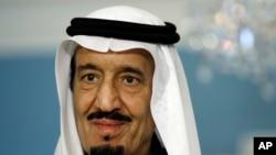 FILE - Saudi Arabia's King Salman bin Abdul-Aziz Al Saud.