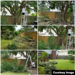 Kegiatan Bambang Samudra di masa pensiun disibukkan dengan memperbaiki rumah (foto: courtesy).