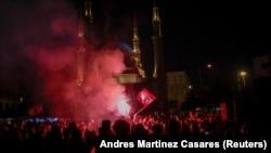 Manifestações em Beirute, Líbano. 8 Novembro, 2019